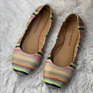 Lucky brand watercolor striped flats